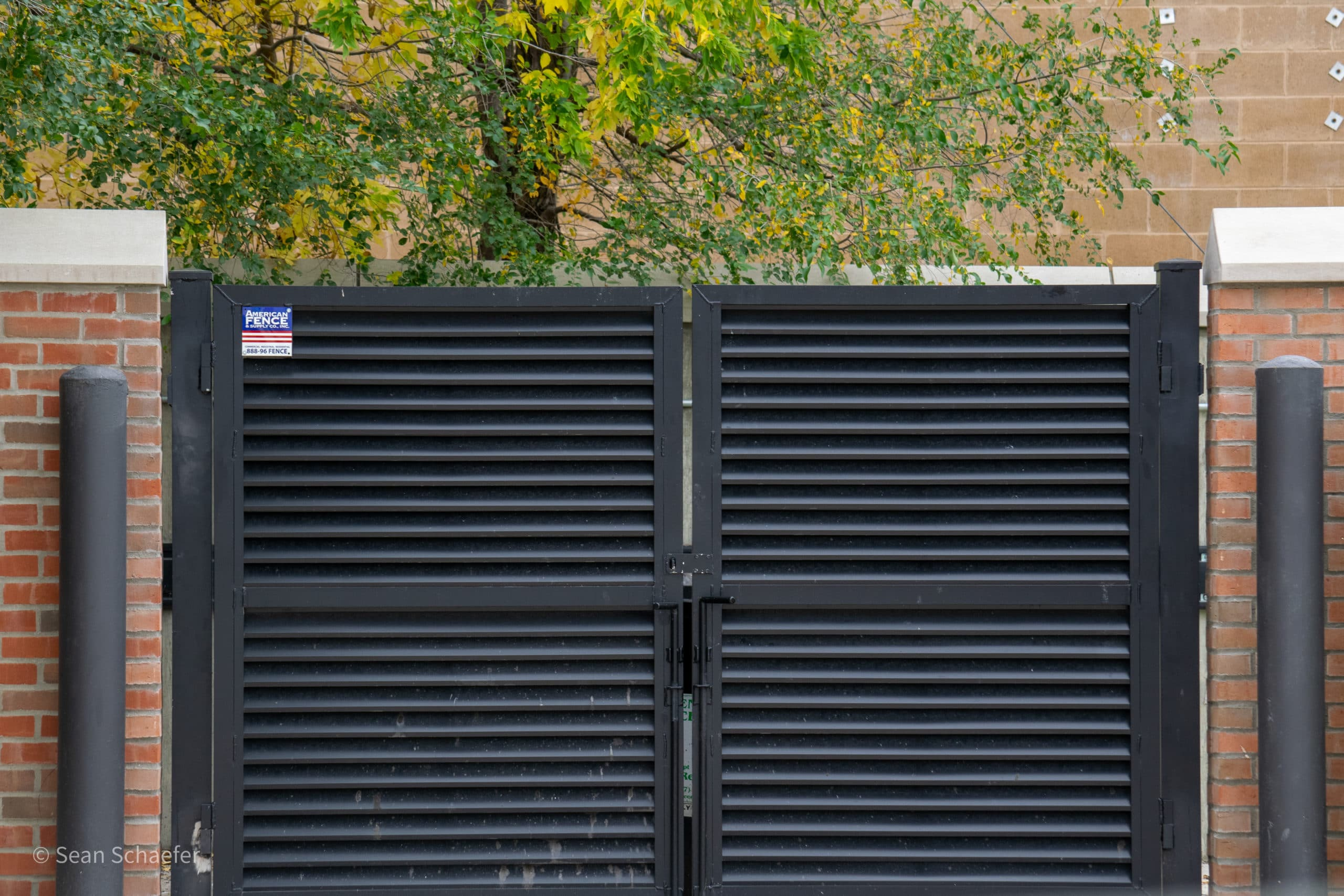 Image of commercial AmeriLouver® dumpster gates at Villa at City Center