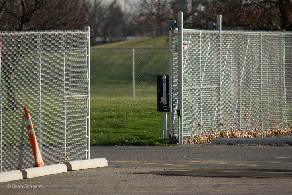 Commercial gate and access control system (electric gate operator) at Lamphere High School