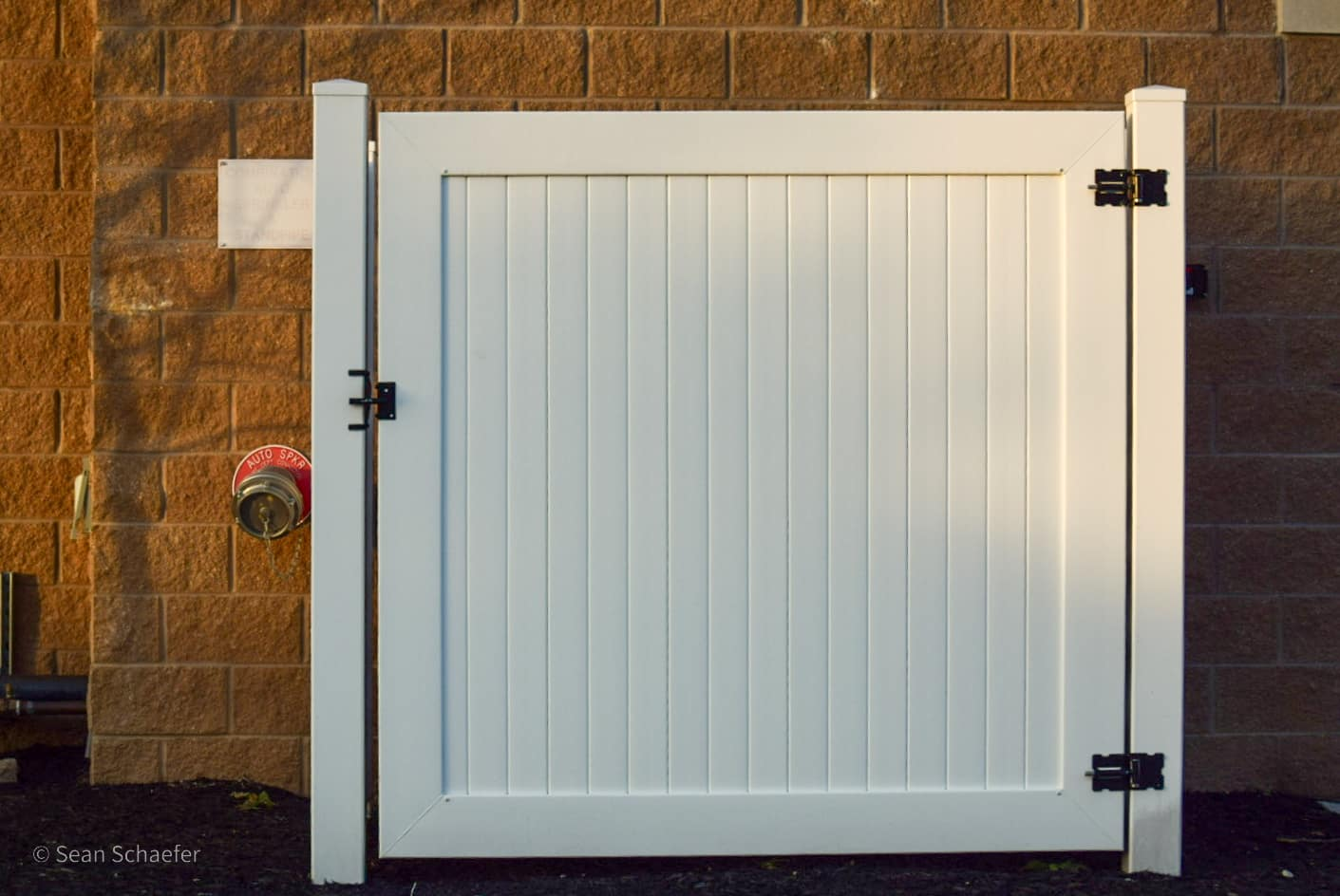 Image of commercial PVC / vinyl HVAC enclosure and gate at Residence Inn