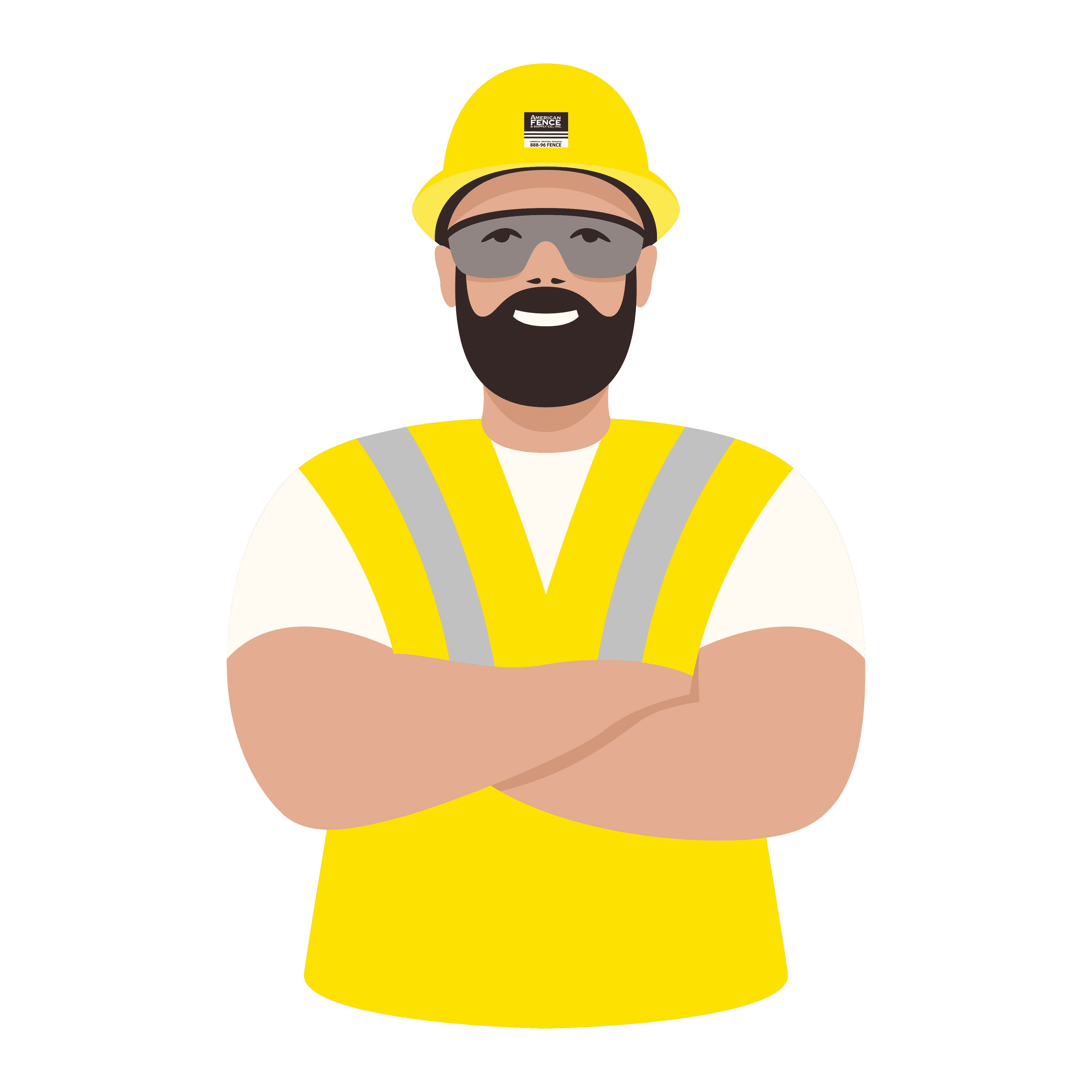 Illustration for construction and labor careers (jobs) page at American Fence & Supply Co., Inc.
