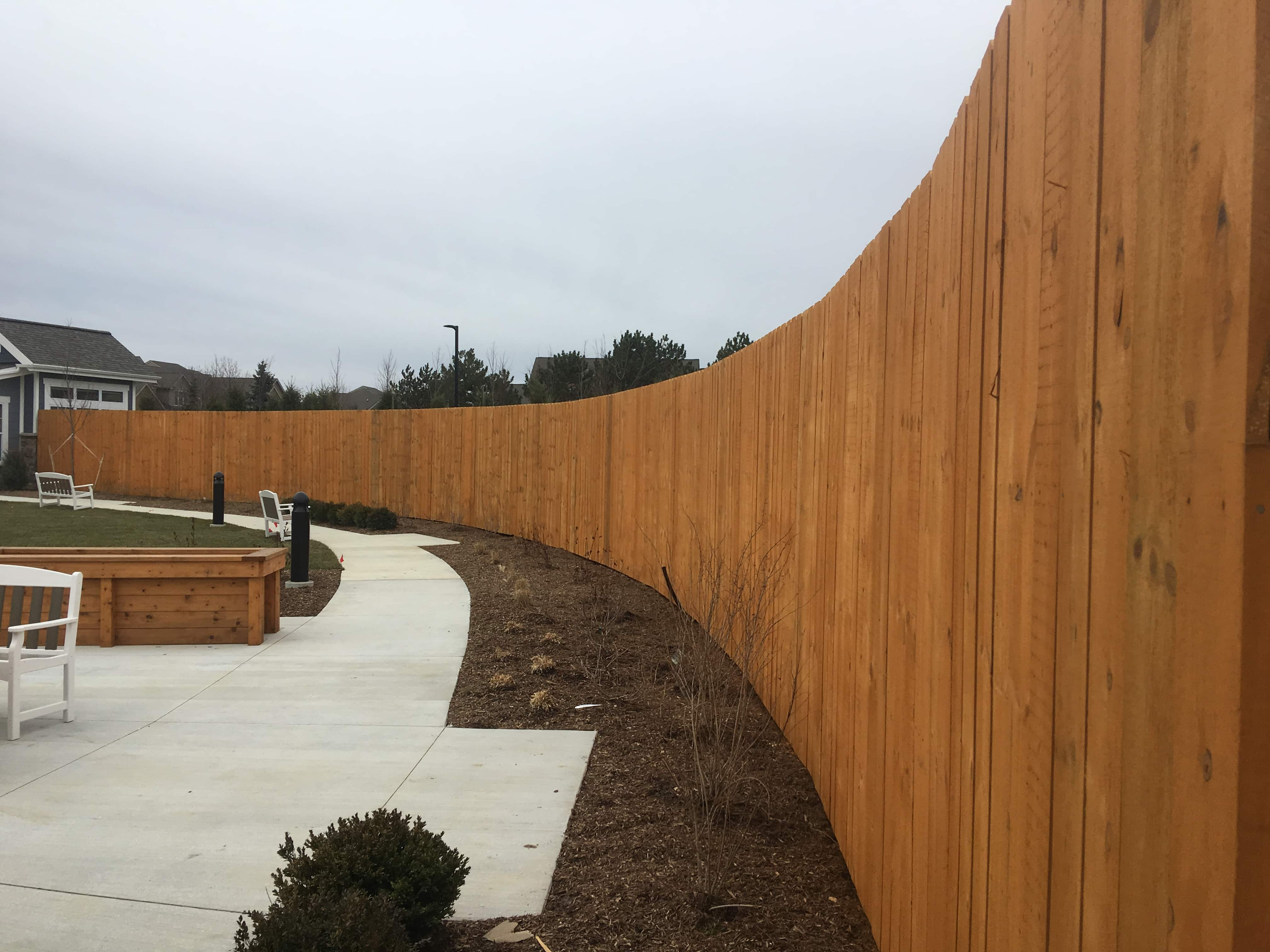 Image of commercial wood privacy fencing in Metro Detroit, Michigan