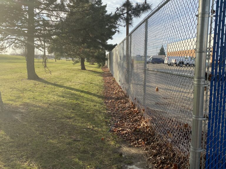 Commercial chain link fencing at Lamphere High School