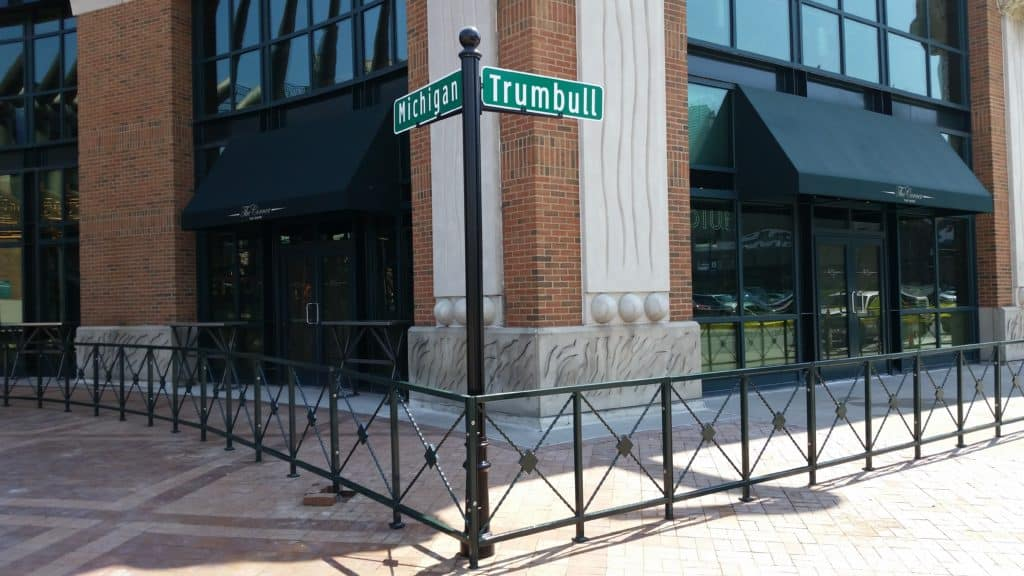 Image of commercial ornamental fencing and gates in Metro Detroit, Michigan
