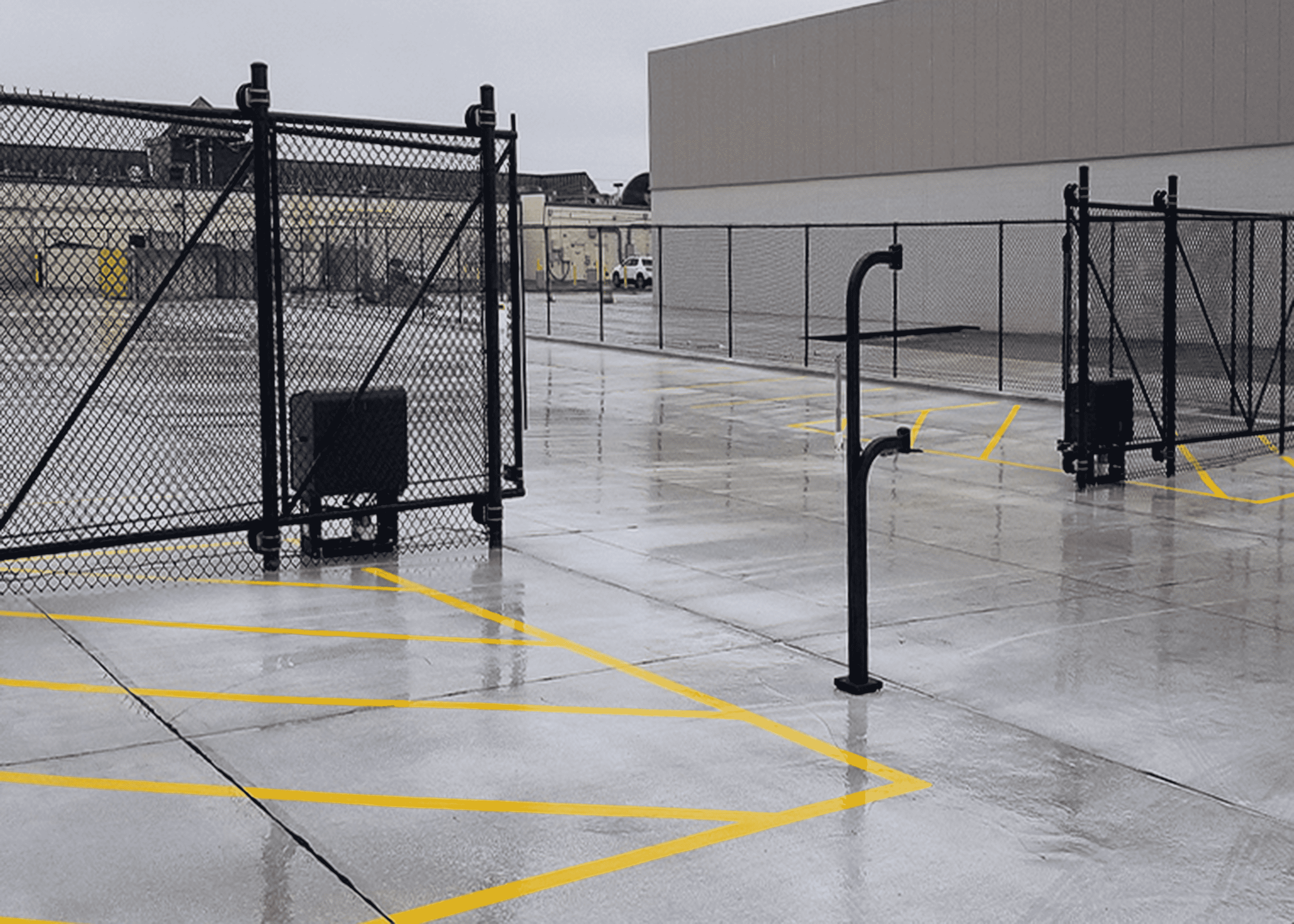 Commercial gate and access control system (electric gate operator) at Van der Graaf